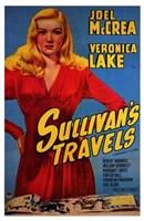 "Sullivan's Travels - red dress by Henri Silberman - 11"" x 17"""