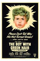 "Boy with Green Hair by Henri Silberman - 11"" x 17"""