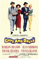 "Guys and Dolls Brando Simmons Sinatra Blaine by Henri Silberman - 11"" x 17"""