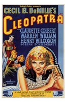 Cleopatra Cecil B. DeMille Wall Poster