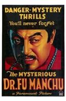"Mysterious Dr Fu Manchu by Henri Silberman - 11"" x 17"", FulcrumGallery.com brand"