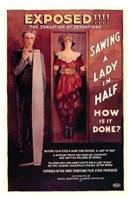 "Sawing a Lady in Half by Henri Silberman - 11"" x 17"""