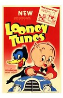 Looney Tunes Porky And Daffy Wall Poster