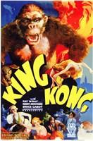 """King Kong Movie Poster by Henri Silberman - 11"""" x 17"""""""