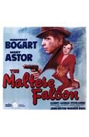 "The Maltese Falcon Mary Astor Humphrey Bogart by Henri Silberman - 11"" x 17"""