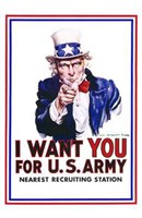 I Want You for Us Army Wall Poster