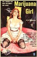 """Marijuana Girl by Henri Silberman - 11"""" x 17"""""""