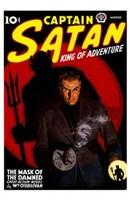 "Captain Satan King of Adventure by Henri Silberman - 11"" x 17"""