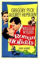 "Roman Holiday Gregory Peck & Audrey Hepburn by Henri Silberman - 11"" x 17"""