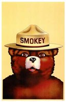 "Smokey the Bear by Henri Silberman - 11"" x 17"", FulcrumGallery.com brand"