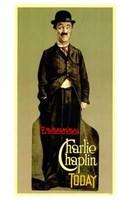 "Charlie Chaplin - Standing by Henri Silberman - 11"" x 17"""
