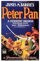 Peter Pan by James M. Barrie (book cover) Wall Poster