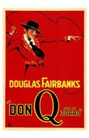 Don Q Son of Zorro Red With Douglas Fairbanks Wall Poster