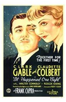 It Happened One Night Gable And Colbert Fine Art Print