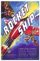 "Rocket Ship - 11"" x 17"""