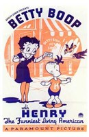 """Betty Boop with Henry - 11"""" x 17"""", FulcrumGallery.com brand"""