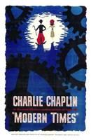 "Modern Times Charlie Chaplin Cartoon - 11"" x 17"""