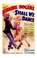 """Shall We Dance Fred Astaire & Ginger Rogers - 11"""" x 17"""""""