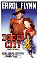 """Dodge City Flynn And Olivia De Havilland - 11"""" x 17"""""""