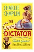The Great Dictator - Charlie Chaplin Fine Art Print