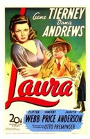 Laura Gene Tierney Wall Poster
