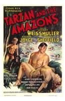 Tarzan and the Amazons, c.1945 Wall Poster