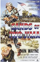Sands of Iwo Jima - American flag Fine Art Print