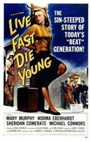 """Live Fast  Die Young - 11"""" x 17"""", FulcrumGallery.com brand"""