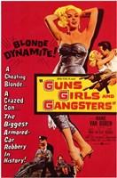 "Guns  Girls and Gangsters - 11"" x 17"", FulcrumGallery.com brand"
