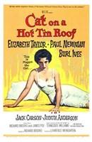"Cat on a Hot Tin Roof Elizabeth Taylor & Paul Newman - 11"" x 17"""