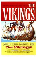 """The Vikings (movie poster) - 11"""" x 17"""""""