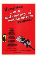 Witness for the Prosecution - red Wall Poster