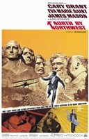 North By Northwest Mount Rushmore Wall Poster