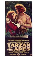 Tarzan of the Apes, c.1917 - style B Wall Poster