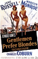 """Gentlemen Prefer Blondes - style B, 1953, 1953 - 11"""" x 17"""""""