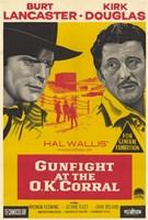 "Gunfight At the Ok Corral Lancaster Douglas - 11"" x 17"", FulcrumGallery.com brand"