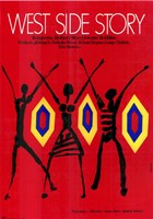 West Side Story Red Dancers Wall Poster