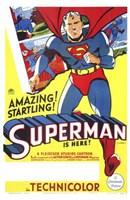 Superman Amazing & Startling! Wall Poster