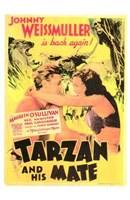 Tarzan and His Mate, c.1934 - style B Wall Poster