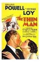"The Thin Man - yellow - 11"" x 17"", FulcrumGallery.com brand"