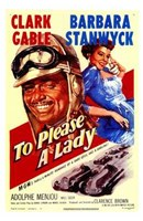 """to Please a Lady (movie poster) - 11"""" x 17"""""""