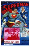 Superman Comes to Earth Wall Poster