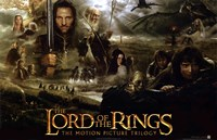 Lord of the Rings: Fellowship of the Ring Collage Framed Print
