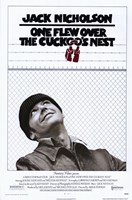 """One Flew Over the Cuckoo's Nest Black and White - 11"""" x 17"""""""