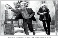 Butch Cassidy and the Sundance Kid B&W Screen Shot Framed Print