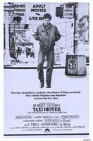 Taxi Driver Purple Wall Poster