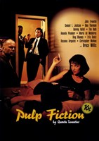 Pulp Fiction Cast Framed Print