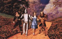 The Wizard of Oz - Skipping on Yellow Brick Road Fine Art Print