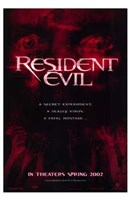 Resident Evil - red Wall Poster