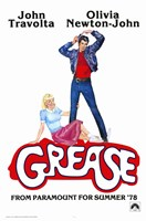 Grease John Travolta Olivia Newton-John Wall Poster
